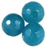 jadeit fasetowany błękitny 10 mm kamień naturalny barwiony