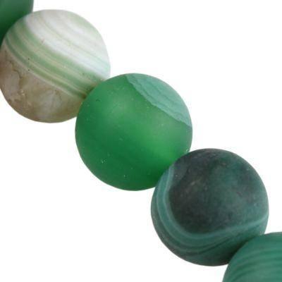 round mat agate dark green 10 mm