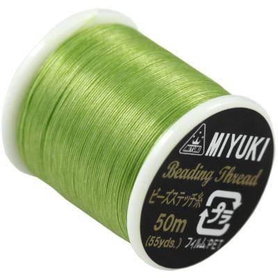 Miyuki nici nylonowe jasno zielone