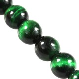 tiger eye beads green 4 mm / semi-precious stone