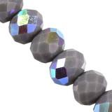 Kryształki CrystaLine rondelle graphite AB 6 x 8 mm