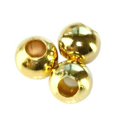 beads 6 mm gold color