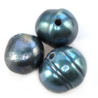 perełki słodkowodne 4-5 mm stalowe