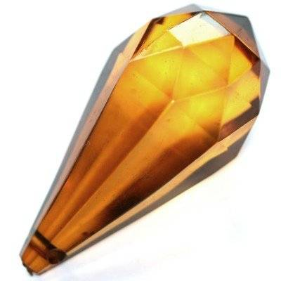 plastic teardrop brown 22 x 47 mm