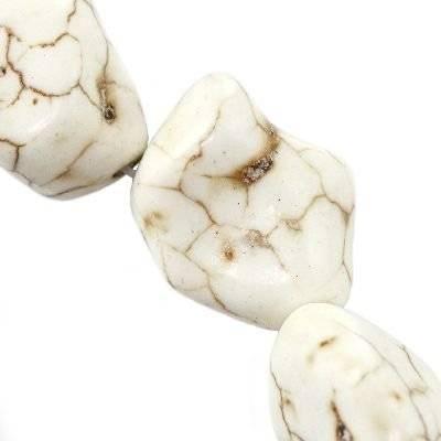 kamień max turkus biały 15 x 20 mm jubilerski