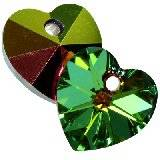 Swarovski heart pendants crystal vitrail medium 10,3 x 10 mm