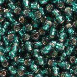 Toho beads round silver-lined teal 2.2 mm TR-11-27BD