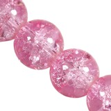 koraliki crackle Jade powder pink 10 mm