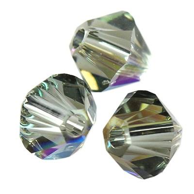 Swarovski bicone black diamond shimmer 4 mm
