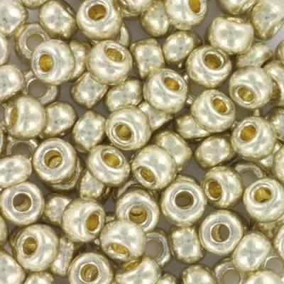 Perles Miyuki round duracoat galvanized silver 6/0 #6-4201