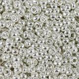 Miyuki round beads bright sterling silver plated 11/0 #11-961