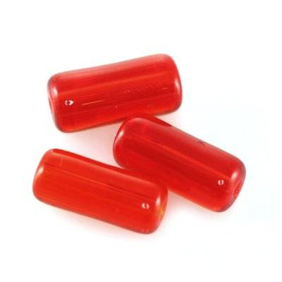 glass beads tube red 4 x 9 mm
