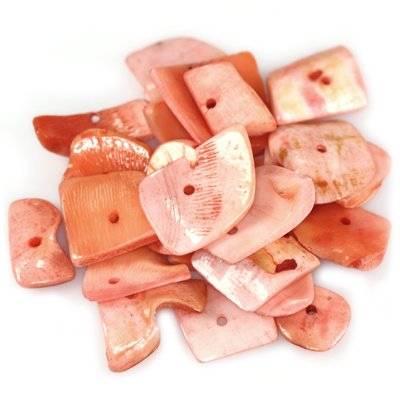 muszle płatki cięte różane 0.8-2.5 cm