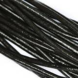 leather wire black 2 mm