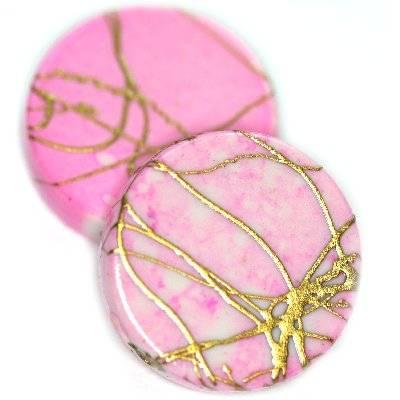 monete in plastica ricercate rosa  18 mm