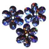 cekiny laserowe kwiatki czarne 15 mm