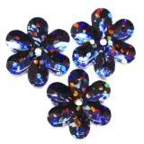 laser blomsterpaljetter svarta 15 mm