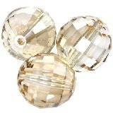 Swarovski chessboard beads crystal golden shadow 8 mm