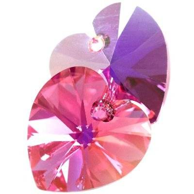 Swarovski heart pendants rose ab 10,3 x 10 mm