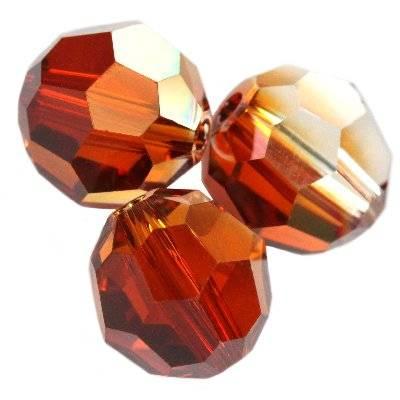 Swarovski round beads crystal red magma 8 mm
