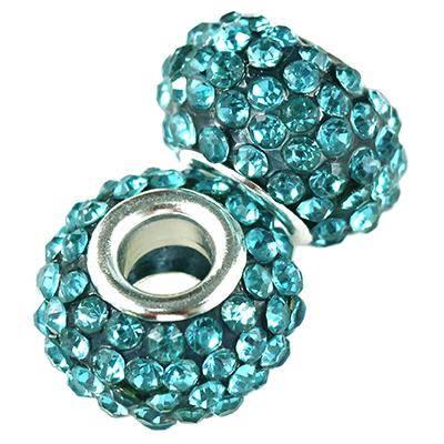 modular caramballa rhinestones capri beads 14 mm