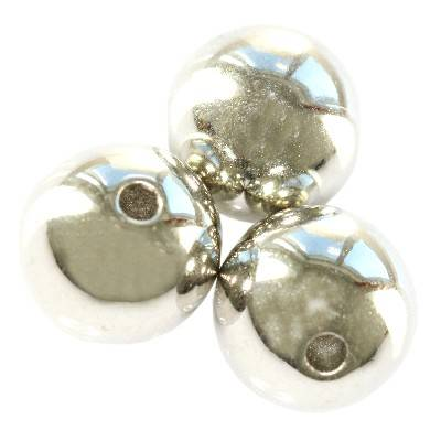 round silver plastic beads 14 mm