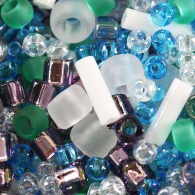 perline Toho mix fuji- white/green/blue/purple mix TX-01-3229