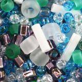 perles Toho mix fuji- white/green/blue/purple mix TX-01-3229