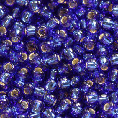 Toho beads round silver-lined cobalt 2.2 mm TR-11-28