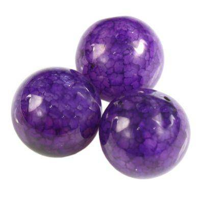 round craced iced agate purple 6 mm