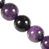 agate craced iced beads purple 6 mm / semi-precious stone