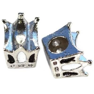 koraliki modułowe biała korona 10 x 12 x 8 mm