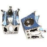 modular beads white crown 10 x 12 x 8 mm