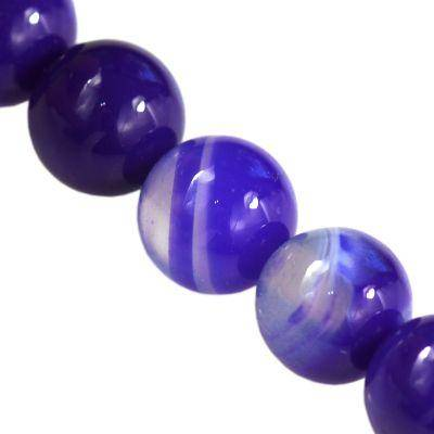 agate beads smooth dark blue 6 mm / semi-precious stone