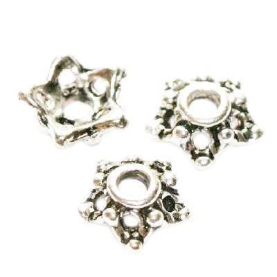 metal perlehatte stjerner 7 mm