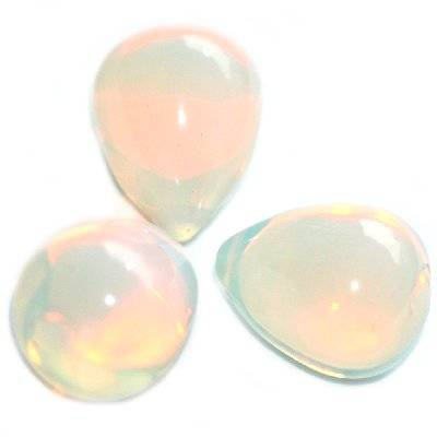 opal teardrops 12 x 16 mm / semi-precious stone synthetic