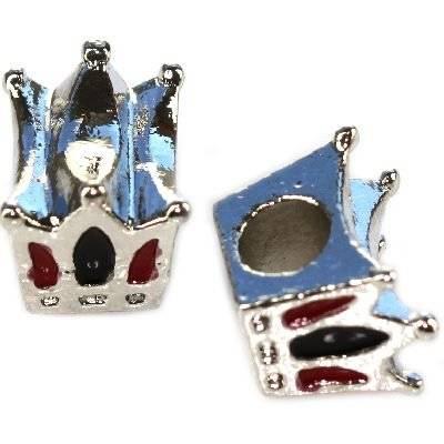 perles modulaires couronne noire 10 x 12 x 8 mm