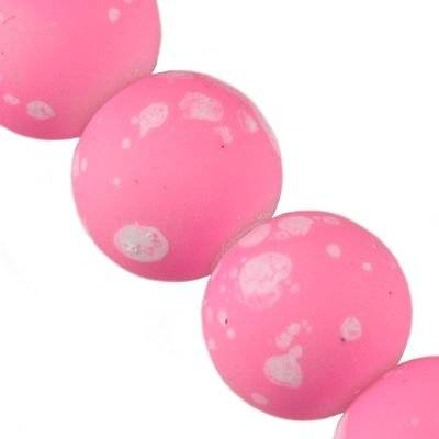 glass beads rubber coated galactic pink 14 mm