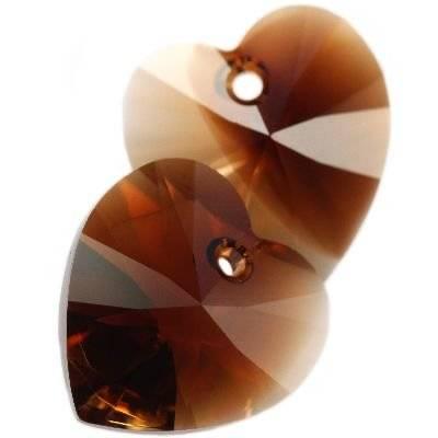 Swarovski heart pendants topaz blend 10,3 x 10 mm