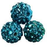 abalorios fimo bolas caramballa cristales capri 10 mm