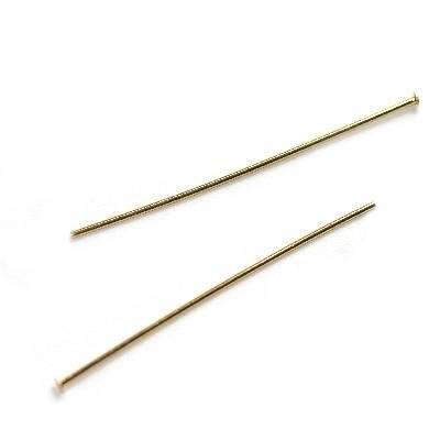 headpins/perlestaver med fladt hoved 5 cm