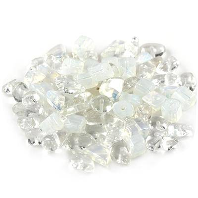 white opal chips, white/ semi-precious stone synthetic
