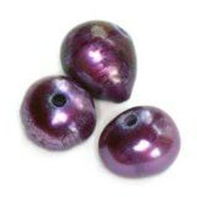 perełki słodkowodne 4-5 mm śliwkowe