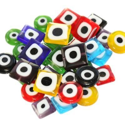 mega pakelis – pranašo akis kvadratai ir monetos 10 ir 12 mm