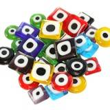 mega pack eye beads squares and coins 10 and 12 mm