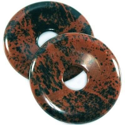 obsydian zawieszki okrągłe mahoniowy 40 mm kamień naturalny