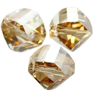 Swarovski helix beads crystal golden shadow 10 mm