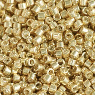 Miyuki Delica galvanized yellow gold 1.6 x 1.3 mm DB-0410