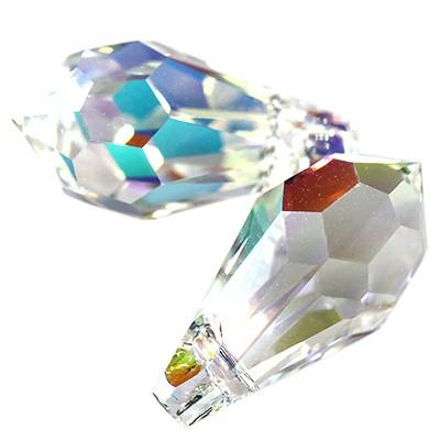 Swarovski teardrop crystal ab 13 x 6.5 mm