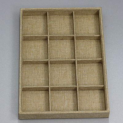 organizer / box of 12 compartments / linen 24 x 35 cm